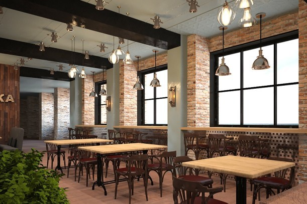 Дизайн-проект кафе самообслуживания «Оливка» на Красном Проспекте, 1 - 3