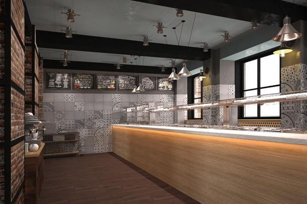 Дизайн-проект кафе самообслуживания «Оливка» на Красном Проспекте, 1 - 4