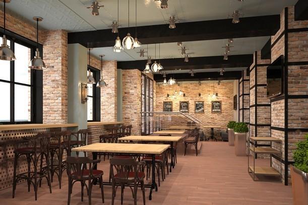 Дизайн-проект кафе самообслуживания «Оливка» на Красном Проспекте, 1
