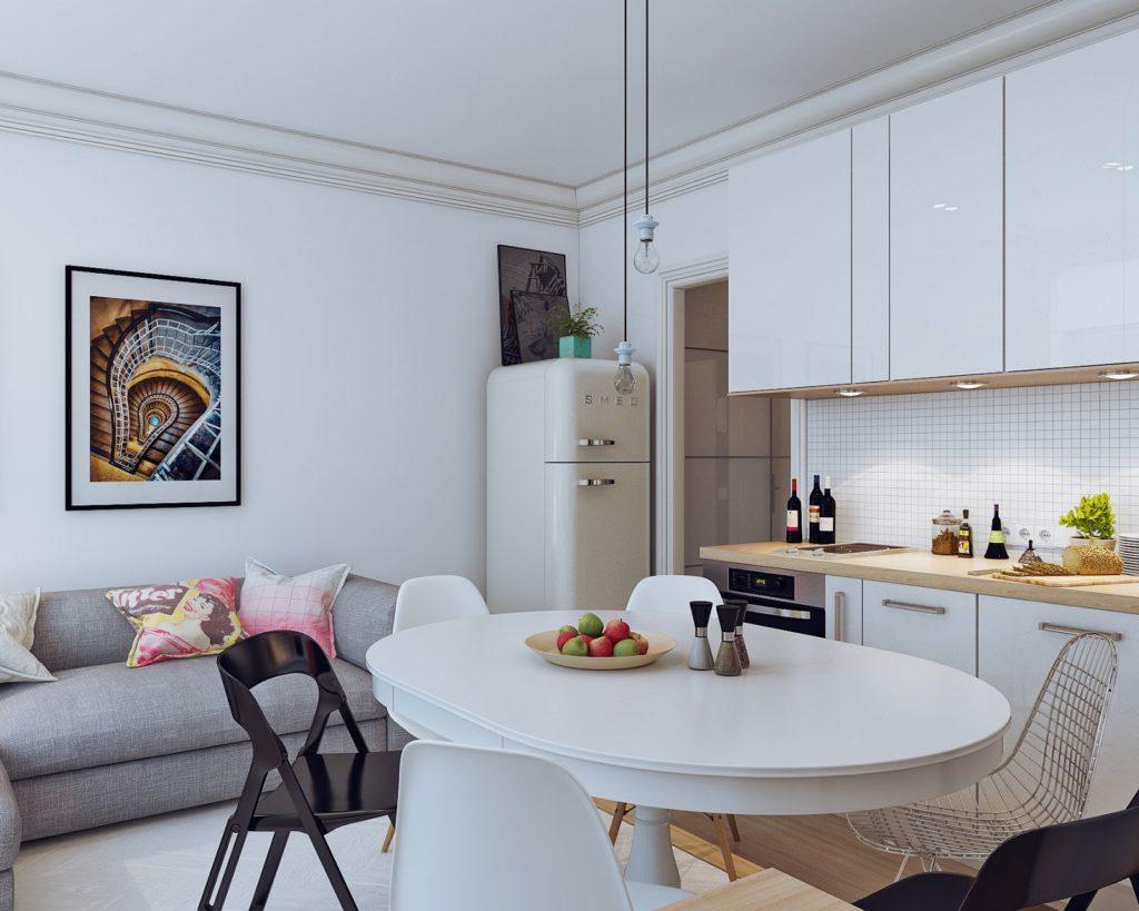 Дизайн-проект замечательной 1-комнатной студии - 2