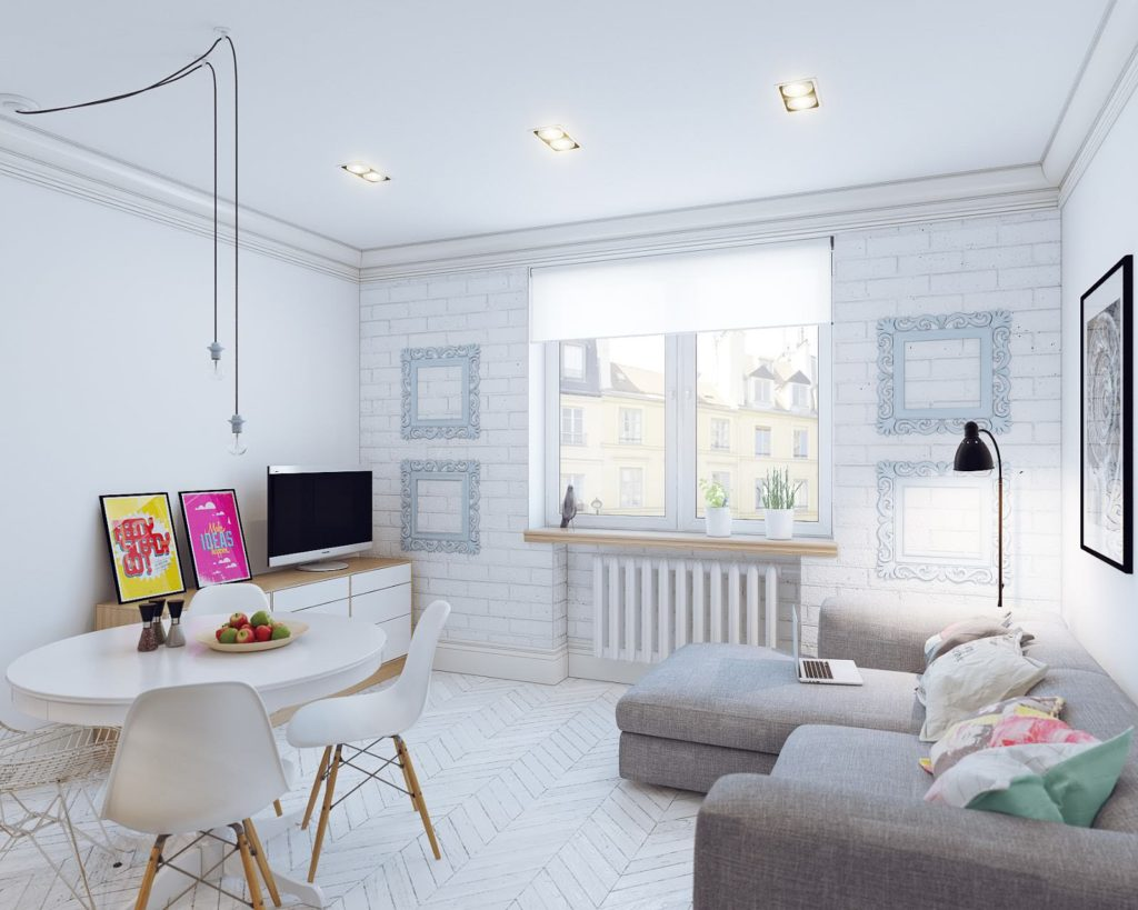 Дизайн-проект замечательной 1-комнатной студии