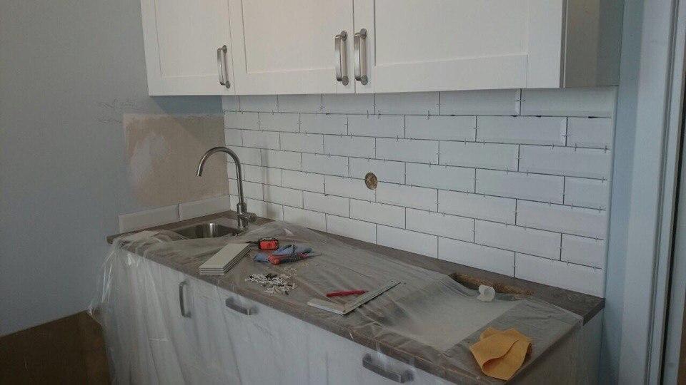 Ремонт кухни на Ольги Жилиной, 32