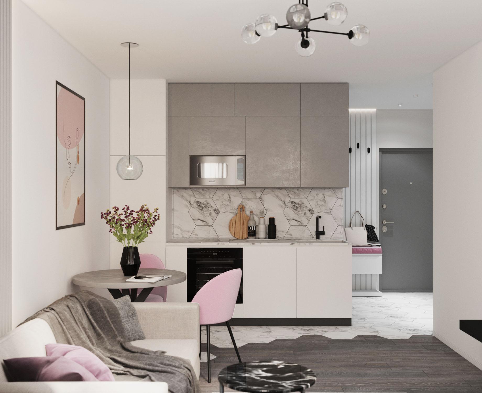 Дизайн квартиры в ЖК Пифагор - 3